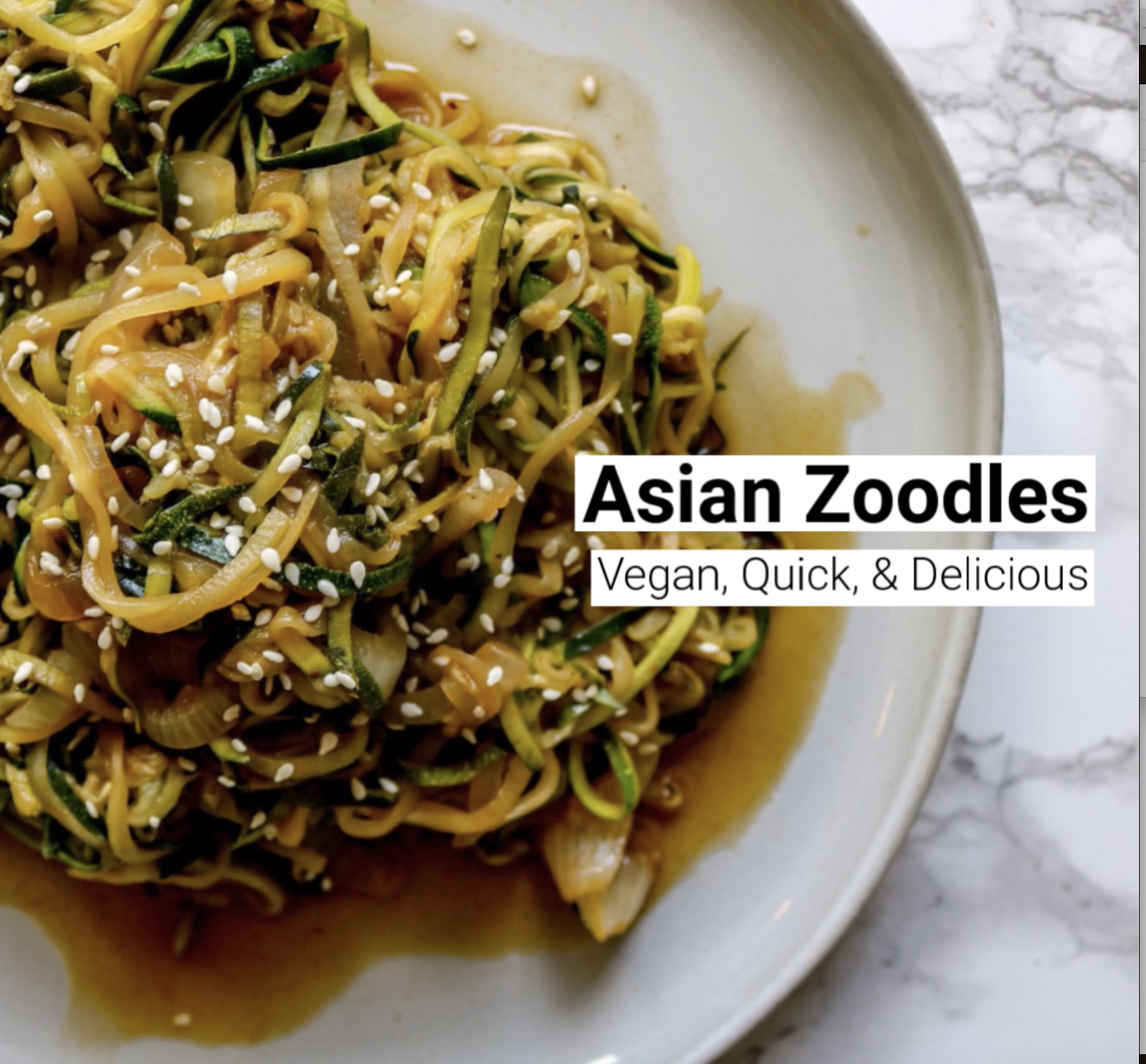 Asian Zoodles Recipe Video