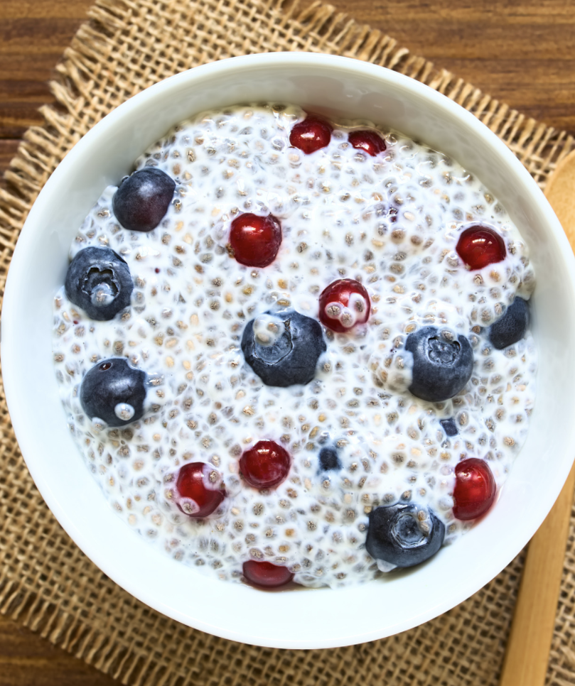 Creamy Mixed Berry Chia Seed Pudding