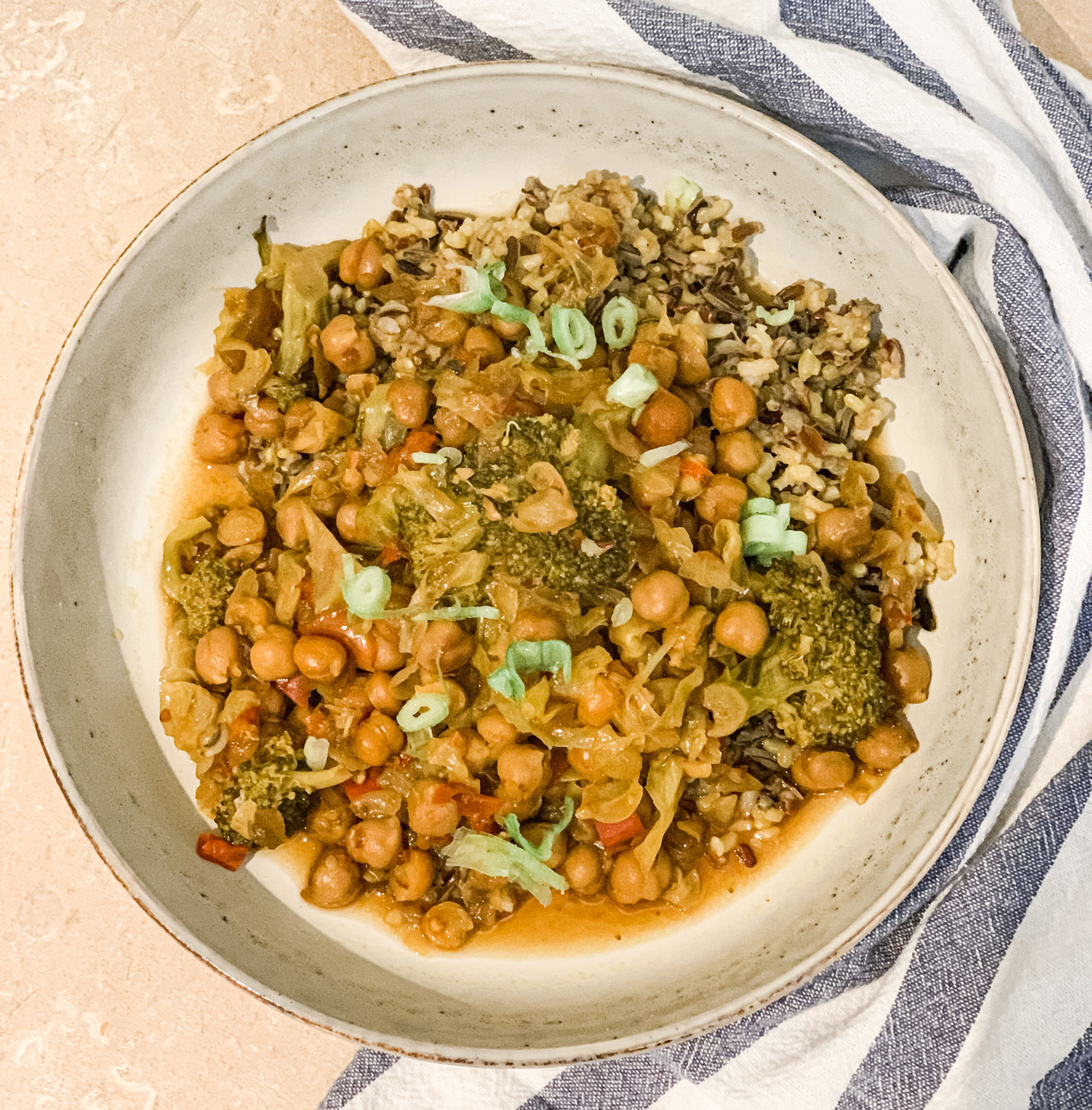 Kung Pao Brocoli and Chickpeas