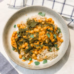 Chickpea Tikka Massala with Kale